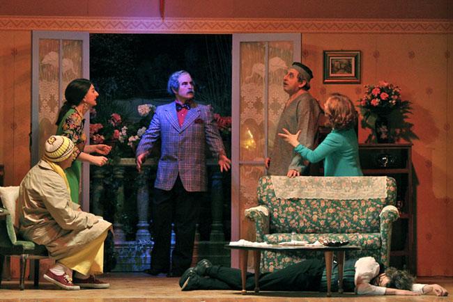 una scena della commedia Il settimo si riposò