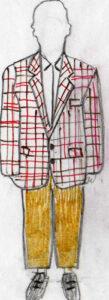 bozzetti dei costumi impiegati in Il parroco è impazzito