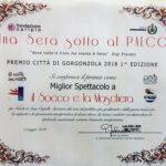 Attestato della Giuria Premio Città di Gorgonzola