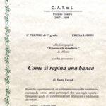 attestato della giuria del Premio Gatal