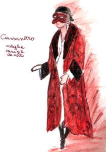 bozzetto del costume di Cassandro