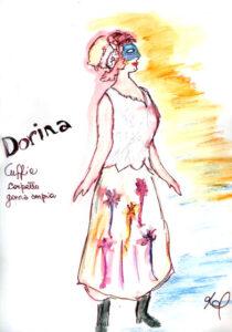 bozzetto del costume di Dorina