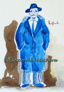 bozzetti dei costumi impiegati in Don Raffaele il trombone