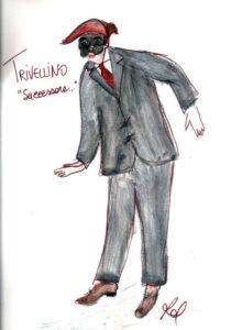 bozzetto del costume di Trivellino