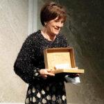 Arezzo 29 in tre minuti - L'attrice ritira il premio a Verona