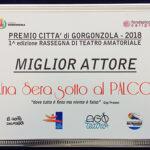 targa miglior attrice Premio Città di Gorgonzola