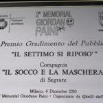 targa-trofeo gradimento del Pubblico 2° memorial Giordano Paini