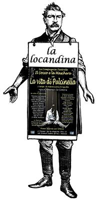 manifesto della commedia La vita di Pulcinella