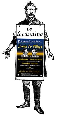 manifesto della commedia Serata De Filippo